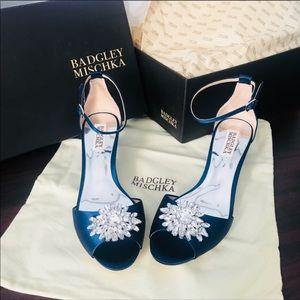 Badgley Mischka Sainte Crystal Embellished Heels